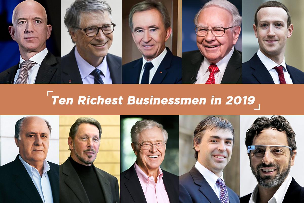 Ten richest businessmen in 2019